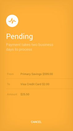 Payments Status UI design for finance app on Behance