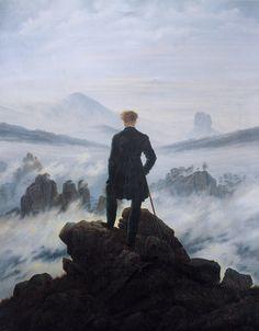 """""""Der Wanderer über dem Nebelmeer"""", Selbstporträt von Caspar David Friedrich aus dem Jahr 1818"""
