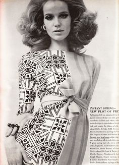 Verushka in Jobere  Vogue - March 15th, 1967  Photographed by Franco Rubartelli