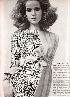 Veruschka in Jobere Vogue March 15th, 1967 Photographed by Franco Rubartelli