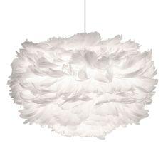 Eos fjäderlampa pendel S, vit – Vita – Köp online på Rum21.se