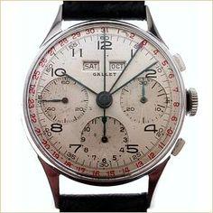 Gallet Chronograph Watch - MultiChron Calendar Chronograph Old Watches, Gents Watches, Vintage Watches, Amazing Watches, Beautiful Watches, Luxury Watches For Men, Chronograph, Watch Room, Gents Style