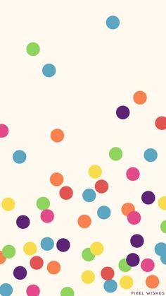 a Rainbow Confetti iPhone 6 wallpaper that I made to match my Kate Spade Phone Case <3 https://muddledink.wordpress.com/2015/03/29/a-few-fun-iphone-wallpapers/