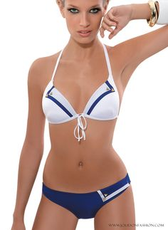 White and Blue Marine Fantasy Bikini