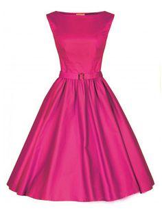 Pink Vintage Sleeveless Midi Dress