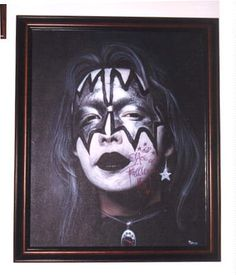 Ace Frehley Paintings | My signed Ace Frehley painting by Mike Turso. Cool!