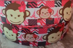 DIVA MONKEY Grosgrain Ribbon... By the by BuddyBelleSupplies, $1.25  https://www.etsy.com/listing/187885685/diva-monkey-grosgrain-ribbon-by-the-yard?ref=sr_gallery_41&ga_search_query=Eiffel+tower+hair+clips&ga_ship_to=ZZ&ga_page=2&ga_search_type=all&ga_view_type=gallery