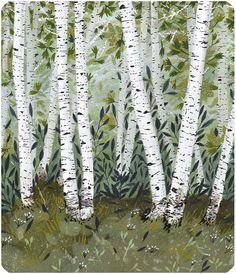 birch grove by beccastadtlander on Etsy