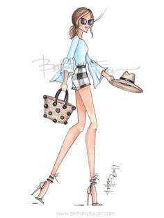 #MemorialDayWeekend #HappyMemorial #Summertime #Hamptons @brittanyfuson #FashionIllustrations| Be Inspirational ❥|Mz. Manerz: Being well dressed is a beautiful form of confidence, happiness & politeness