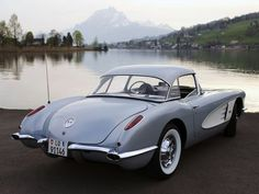 1959 Chevrolet Corvette retro muscle supercar supercars f Old Corvette, Corvette Summer, Classic Corvette, Chevrolet Corvette Stingray, Vintage Cars, Vintage Room, Retro Cars, American, Muscle Cars