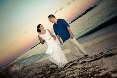 Key West Wedding at Fort Zachary Taylor - Jen and Scott's #KeyWest sunset #portraits after their ceremony.  © Karrie Porter Photography