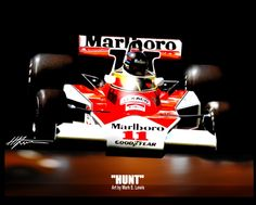 James Hunt, Hunting Art, Mclaren F1, Indy Cars, Automobile, Original Art, Racing, Sport, Classic