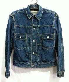 Selvedge Denim Vintage Levis Jacket 1940s Big E Jean 506XX First Edition Belt Back Medium