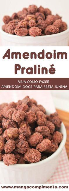 Amendoim Praliné - Veja como é fácil fazer esse amendoim doce em casa. #receita #festajunina #amendoim #doces