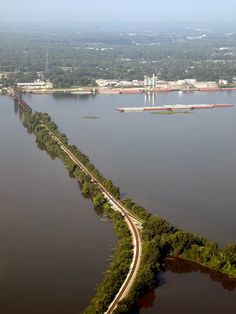 Aerial View of Decatur Alabama.