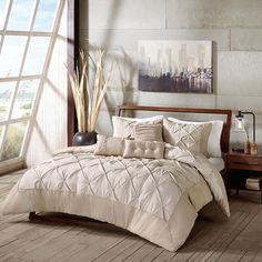 Madison Park Kiley 6-piece Bed Set, Beig/Green (Beig/Khaki)