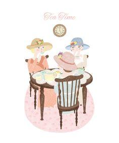 Tea Time by Marta Angel, via Behance