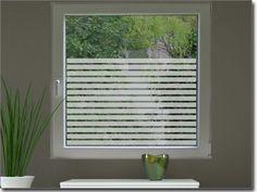 Fensterfolie Streifen 3 cm Milchglasfolie für Fenster
