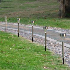 Confident Sale 10pcs Outdoor Stainless Steel Led Solar Landscape Path Lights Yard Lamp Suitable For Men And Children Women