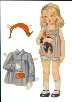 More Swedish dolls - Ulla Dahlstedt - Picasa Web Albums Vintage Paper Dolls, Vintage Sewing, Doll Toys, Baby Dolls, Dolls Dolls, Paper Toys, Paper Crafts, History Of Paper, Paper Dolls Clothing