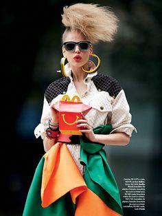 visual optimism; fashion editorials, shows, campaigns & more!: dando bandeira: elisabeth erm by zee nunes for vogue brazil june 2014 #fashion #photography
