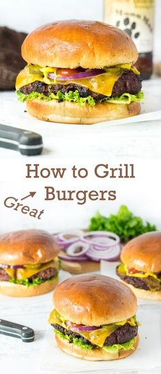 How to Grill Burgers - Recipe via @foxvalleyfoodie