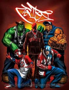 Avengers hip hop style