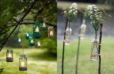 DIY: Decorando com garrafas e potes de vidro!!!