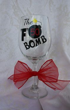Birthday wine glass 50 or 40 Moms 50th Birthday, Funny Birthday Gifts, Birthday Sayings, Grandpa Birthday, Happy Birthday, Brother Birthday, 50th Birthday Party, Birthday Ideas, Birthday Crafts