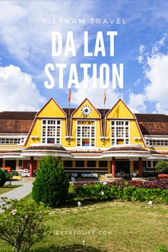 Da Lat railway station is the most beautiful railway station in Vietnam and associated with many cultural and historical values of Dalat city. Read this complete travel guide to Dalat train station to know more about its history, Dalat train tour, how to get there, best time to visit, things to do and travel tips. Bali Travel, Wanderlust Travel, Thailand Travel, Travel Pics, Places To Travel, Travel Destinations, Vietnam Travel Guide, Train Tour, Backpacking Asia