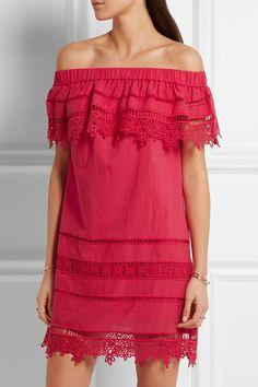Sea; Raspberry cotton-voile Slips on 100% cotton; lining: 100% cotton