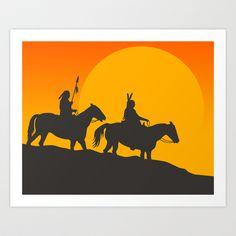 Hopi Sunrise Art Print by Jazzberry Blue - $19.00