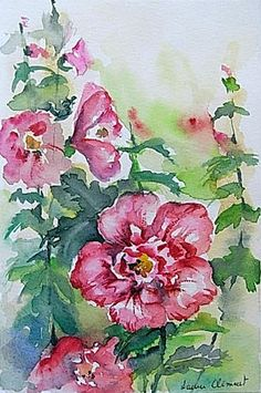 Hibiscus, Watercolors, Costa, Popular, Flowers, Plants, Painting, Art, Roads