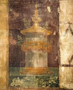Fresco in an atrium of the Villa di Poppaea in Oplontis (Now Torre Annunziata), near Pompeii. Pompeii Ruins, Pompeii And Herculaneum, Ancient Rome, Ancient Art, Fall Of Constantinople, Mural Painting, Paintings, Villa, Roman History