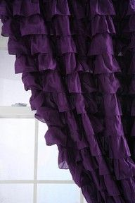 Ruffled to perfection in purple