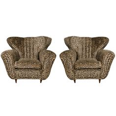 Nice Pair of Comfortable Armchairs | From a unique collection of antique and modern armchairs at https://www.1stdibs.com/furniture/seating/armchairs/