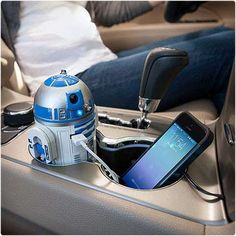R2D2 USB Car Charger! I needed this for my brother!!