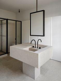 Kortrijk House | Leibal Cheap Home Decor, Diy Home Decor, Parquetry Floor, Steel Frame Doors, Architecture Design, Minimalist Interior, Classic House, Interiores Design, Bathroom Interior