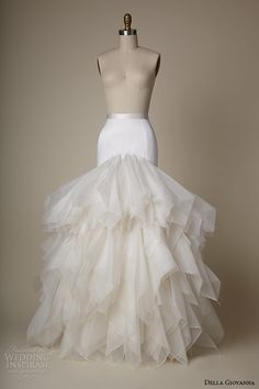 della giovanna wedding dress 2015 bridal silk satin fit and flare skirt with organza petal jess