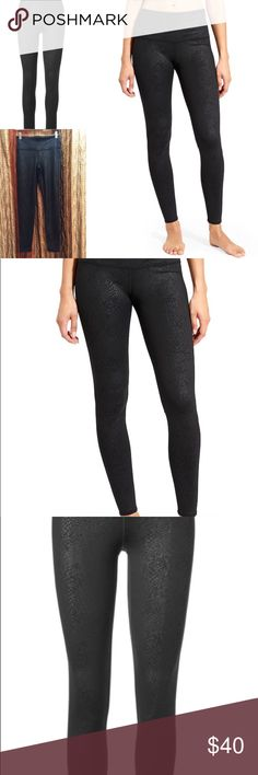 """Athleta High Rise Serpent Chat Tights Fitted, High-rise, Tight leg Fits next to skin, sits at the waist Inseam: Regular: 27.5"""" Black Serpent pattern SIZE SMALL NWOT, never worn Athleta Pants Leggings"""