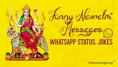 Funny Navratri Messages, WhatsApp Status and funny jokes. Share these funny navratri messages with your loved ones on WhatsApp/ Facebook. Navratri Pictures, Navratri Images, Navratri Messages, Happy Navratri Wishes, Funny Jokes, First Love, Facebook, Husky Jokes, Hilarious Jokes