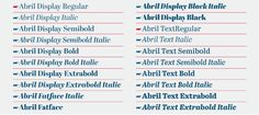 Abril ™ - Type Together : High quality fonts and custom type design