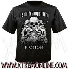 Camiseta de Dark Tranquillity - Fiction - Skull.