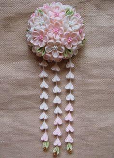 『舞妓さん風!華やかな白ピンク大輪ブー…』