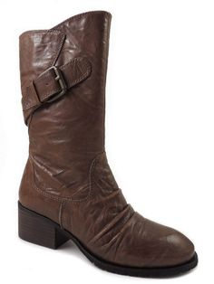 INC International Concepts Women's Cast Mid-Calf Boots Dark Tan Leather Size 5.5 #INCInternationalConcepts #FashionMidCalf
