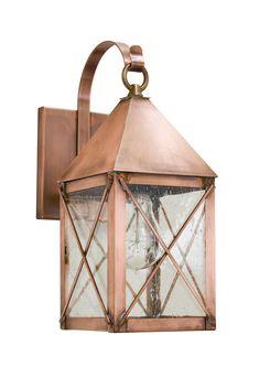 Brass Traditions 500 Series Dorchester Wall Lantern with Bracket - Modern Copper Light Fixture, Lantern Light Fixture, Copper Lighting, Exterior Light Fixtures, Outdoor Light Fixtures, Exterior Lighting, Garage Lighting, Porch Lighting, Outdoor Lighting