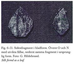 Oseberfundet, Volume 4 page The larger leaf is about 2 cm wide and cm tall. Medieval Embroidery, Embroidery Applique, Norse People, Viking Dress, Early Middle Ages, Archaeological Finds, Norse Vikings, Clothing And Textile, Viking Age