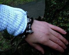 Thor's Hammer Mjolnir Viking Bracelet Leather by BerlogaWorkshop