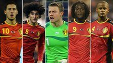 Belgium's golden generation - Eden Hazard, Marouane Fellaini, Simon Mignolet, Romelu Lukaku, Vincent Kompany