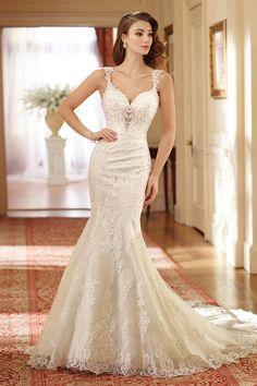Wedding gown by David Tutera for Mon Cheri Bridals.